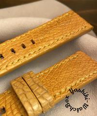 クロコダイル レザー 腕時計ベルト タンブラウン (ラグ幅26mm - バックル幅24mm) cro-385