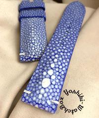 スティングレイ  腕時計ベルト ブルー (ラグ幅24mm - バックル幅22mm)  sti-64