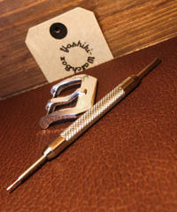 シルバー925製 腕時計ベルト用 バックル 24mm プレーン pl-24