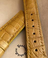 クロコダイル レザー 腕時計ベルト タンブラウン (ラグ幅20mm - バックル幅18mm) cro-507