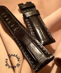 クロコダイル 腕時計ベルト ブラック 22mm-20mm CRO-288