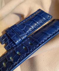 クロコダイル レザー 腕時計ベルト ライトブルー 24mm-22mm CRO-245