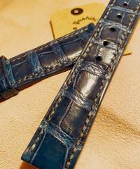 クロコダイル レザー ブルー 20mm-18mm CRO-115