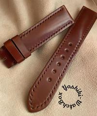 コードバン レザー 腕時計ベルト ブラウン (ラグ幅20mm - バックル幅18mm) cod-11