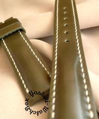 cod-67コードバン レザー 腕時計ベルト カーキ (ラグ幅20mm - バックル幅18mm)