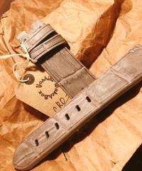 クロコダイル グレー  24mm-22mm CRO-18