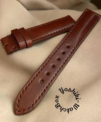 コードバン レザー 腕時計ベルト ブラウン (ラグ幅18mm - バックル幅16mm) cod-17