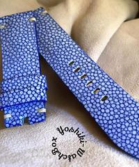 スティングレイ  腕時計ベルト ブルー (ラグ幅24mm - バックル幅22mm)  sti-48