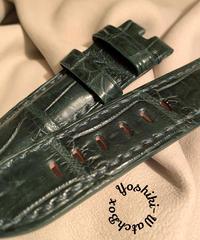 クロコダイル 腕時計ベルト グリーン 24mm-22mm CRO-287