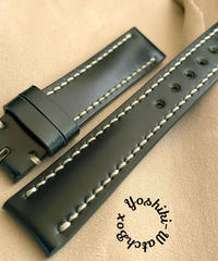 cod-52 コードバン レザー 腕時計ベルト グリーン (ラグ幅18mm - バックル幅16mm)