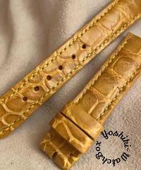 クロコダイル レザー 腕時計ベルト タンブラウン (ラグ幅18mm - バックル幅16mm) cro-415
