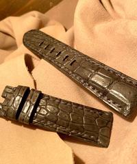 クロコダイル レザー 腕時計ベルト グレー 22mm-20mm CRO-247