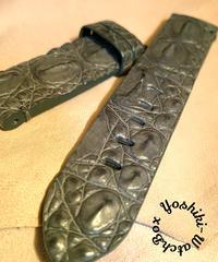 クロコダイル 腕時計ベルト グレー 22mm-22mm CRO-282
