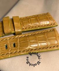 クロコダイル 腕時計ベルト タンブラウン 24mm-22mm CRO-314
