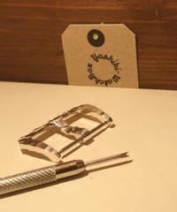 シルバー925製 腕時計ベルト用 バックル 26mm ハンマートーン ht-26