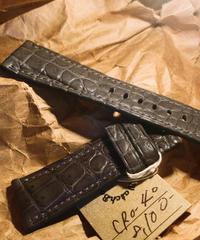 クロコダイル グレー 26mm-22mm CRO-40