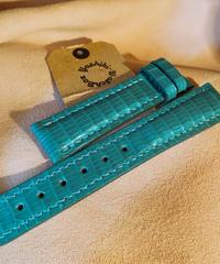 リザード レザー 腕時計ベルト ライトグリーン 18mm-16mm LIZ-19