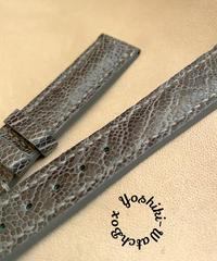 オーストリッチレザー 腕時計ベルト グレー (ラグ幅18mm - バックル幅16mm) ost-100