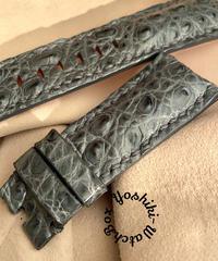 クロコダイル 腕時計ベルト グレー 26mm-22mm CRO-322