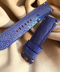 スティングレイ レザー 腕時計ベルト ブルー 24mm-22mm  STI-4
