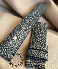 スティングレイ  腕時計ベルト ブラック (ラグ幅22mm - バックル幅20mm)  sti-57
