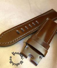 コードバン レザー 腕時計ベルト チョコブラウン (ラグ幅24mm - バックル幅22mm) cod-06