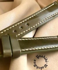 cod-59 コードバン レザー 腕時計ベルト カーキ (ラグ幅18mm - バックル幅16mm)