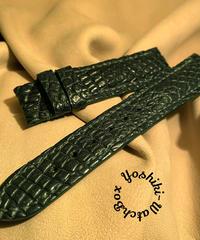 クロコダイル 腕時計ベルト ダークグリーン 20mm-18mm CRO-285