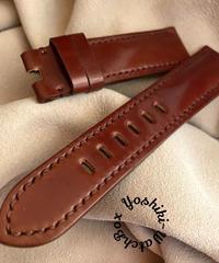 コードバン レザー 腕時計ベルト ブラウン (ラグ幅22mm - バックル幅20mm) cod-02