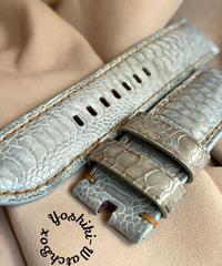 チキン レザー 腕時計ベルト ライトブルー 24mm-22mm  CHI-17