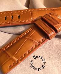 クロコダイル 腕時計ベルト オレンジ 22mm-20mm CRO-291