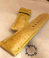 cro-604 クロコダイル レザー 腕時計 ベルト タンブラウン (ラグ幅24mm - バックル幅22mm)