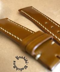 cod-85 コードバン レザー 腕時計ベルト イエローブラウン (ラグ幅21mm - バックル幅18mm)