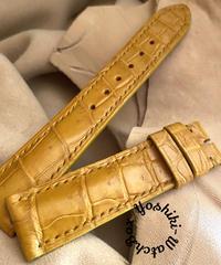 クロコダイル レザー 腕時計ベルト タンブラウン (ラグ幅20mm - バックル幅18mm) cro-514