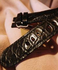 クロコダイル ブラック 24mm-22mm CRO-67