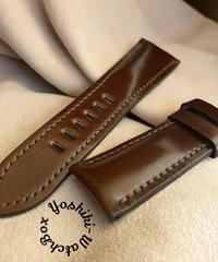 コードバン レザー 腕時計ベルト チョコブラウン (ラグ幅26mm - バックル幅22mm) cod-23