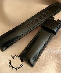 コードバン レザー 腕時計ベルト ブラック (ラグ幅22mm - バックル幅20mm) cod-26