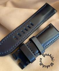 コードバン レザー 腕時計ベルト ブルー (ラグ幅26mm - バックル幅22mm) cod-15