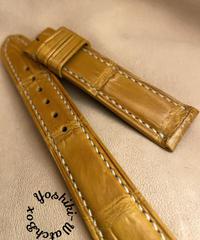 クロコダイル レザー 腕時計ベルト タンブラウン (ラグ幅18mm - バックル幅16mm) cro-452