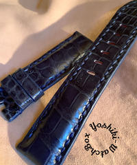 クロコダイル 腕時計ベルト ブルー 24mm-22mm CRO-296
