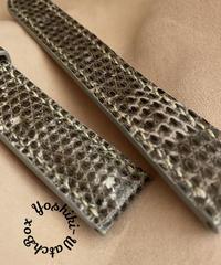 リザード レザー 腕時計ベルト グレー (ラグ幅18mm - バックル幅16mm) liz-86