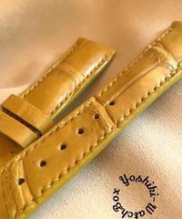 cro-527 クロコダイル レザー 腕時計ベルト タンブラウン (ラグ幅21mm - バックル幅18mm)