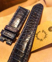 クロコダイル ブルー 24mm-22mm CRO-77