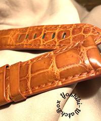 クロコダイル 腕時計ベルト オレンジ 24mm-22mm CRO-303