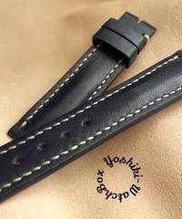 カーフ レザー 腕時計ベルト サンプル品 ダークブルー (ラグ幅18mm - バックル幅16mm) cal-03