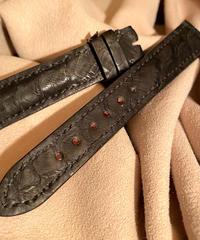 パイソン レザー 腕時計ベルト ブラック 18mm-16mm PYT-38