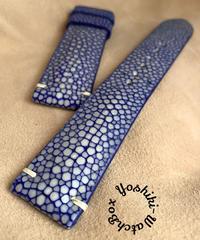 スティングレイ  腕時計ベルト ブルー (ラグ幅20mm - バックル幅18mm)  sti-32