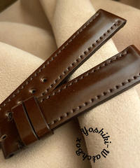 コードバン レザー 腕時計ベルト チョコブラウン (ラグ幅18mm - バックル幅16mm) cod-20