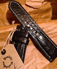 クロコダイル ブラック 26mm-22mm  CRO-05