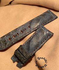 パイソン レザー 腕時計ベルト ブルー 24mm-22mm PYT-39